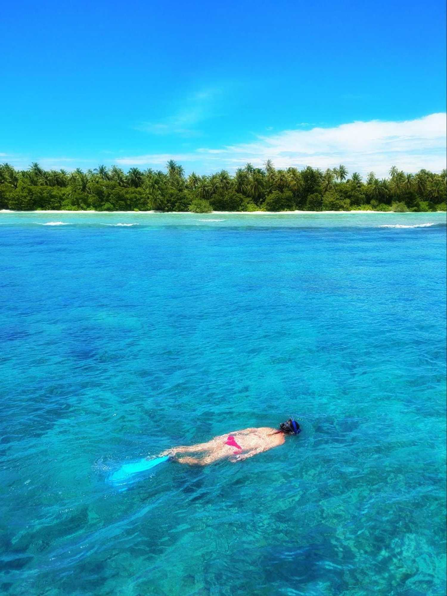 Snorkelling off LUX* South Ari Atoll