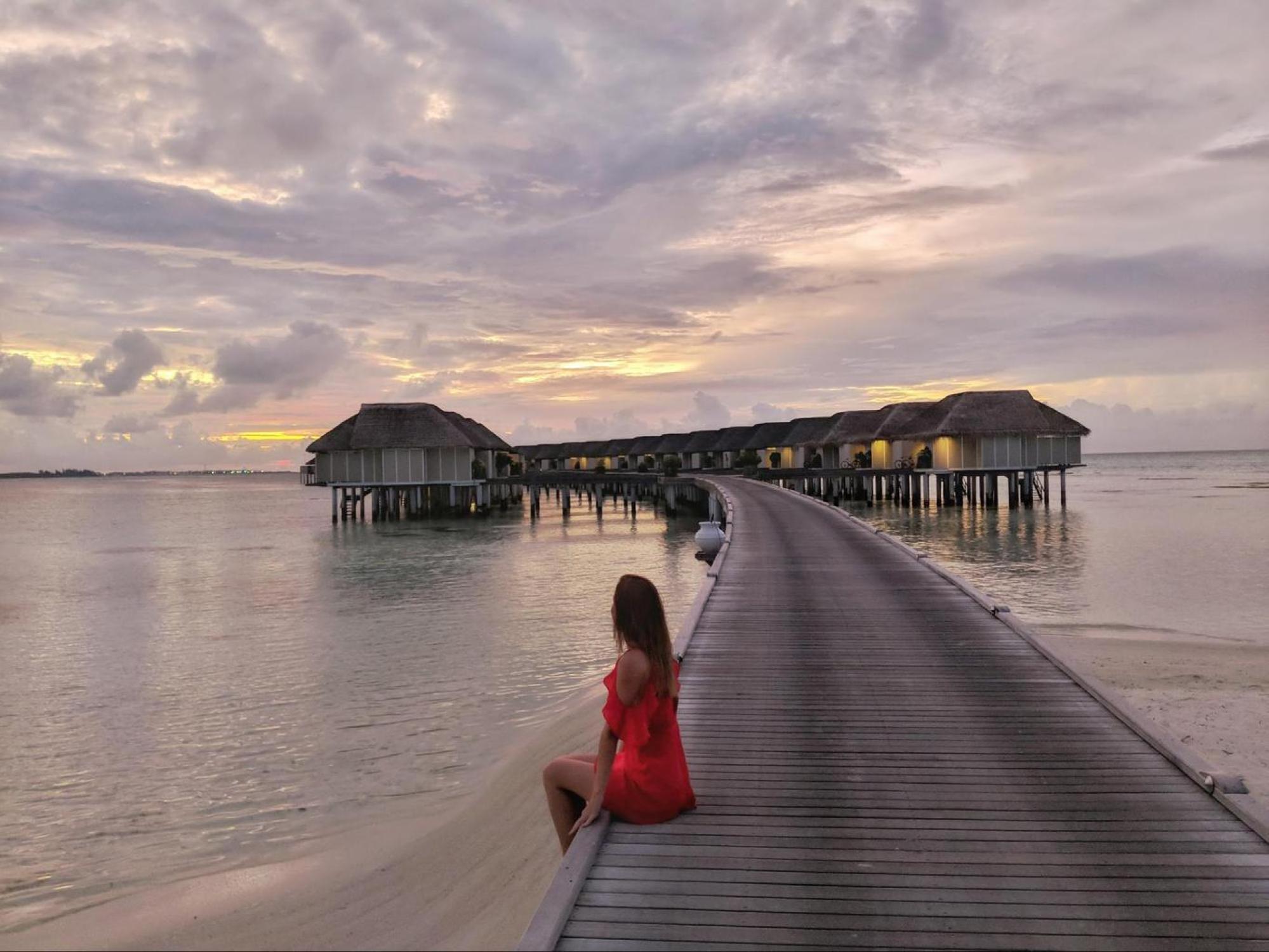Sunset at LUX* Maldives