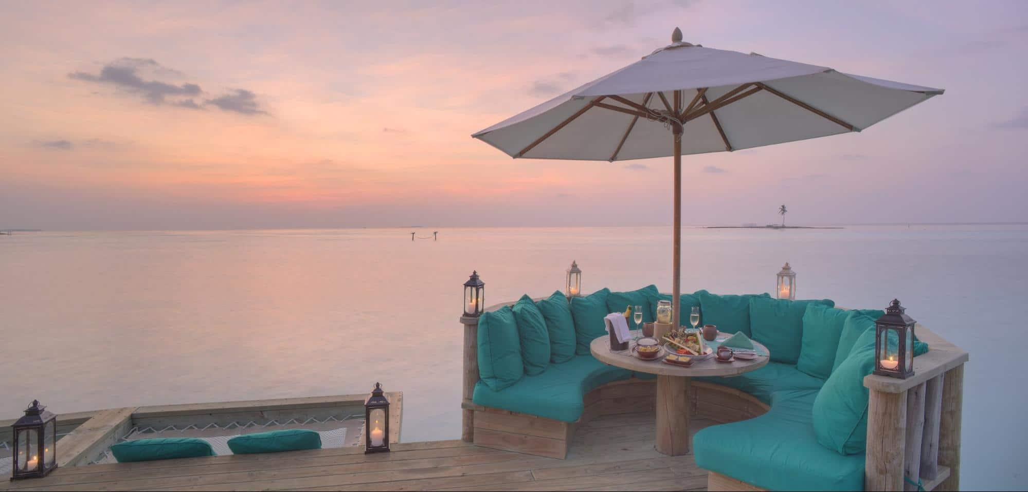 Sunset at the Overwater Bar jetty - Courtesy of Gili Lankanfushi