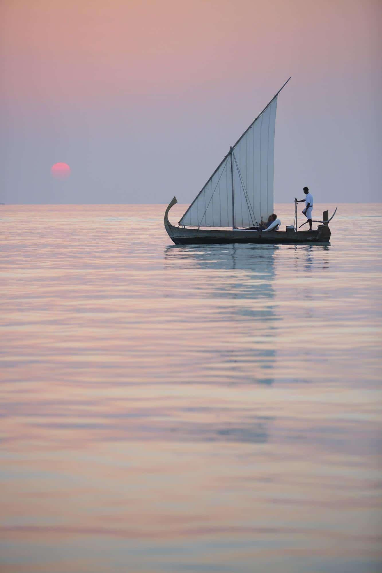 Sunset sailing - Courtesy of Gili Lankanfushi