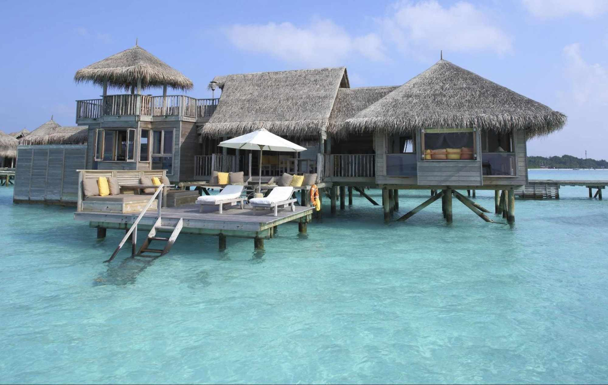 Villa Suite view from the water - Courtesy of Gili Lankanfushi