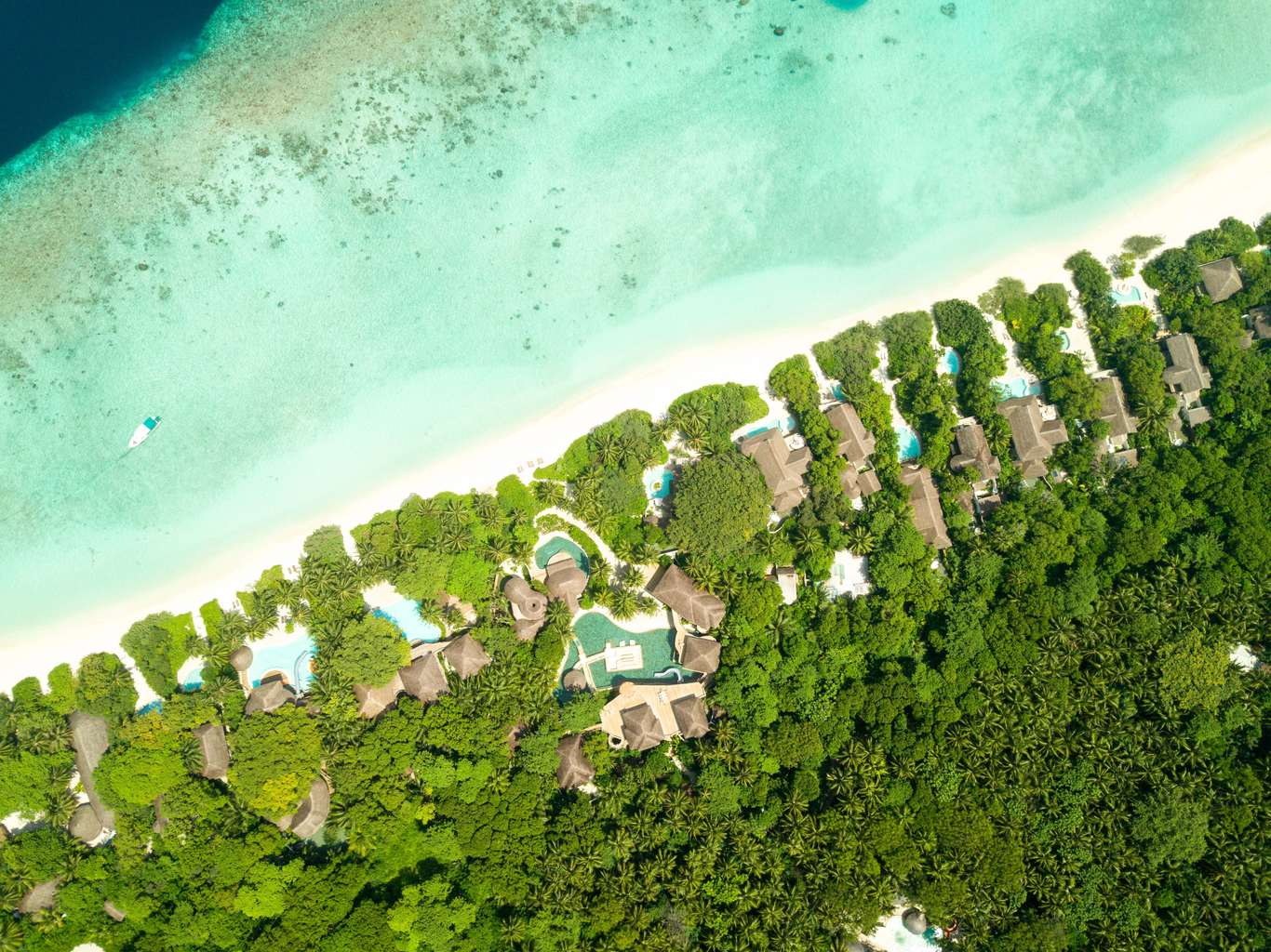 Beach villas at Soneva Fushi