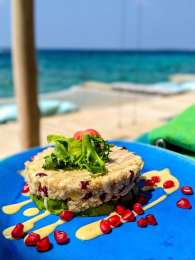 Dining with your sand in the toes at Soneva Fushi