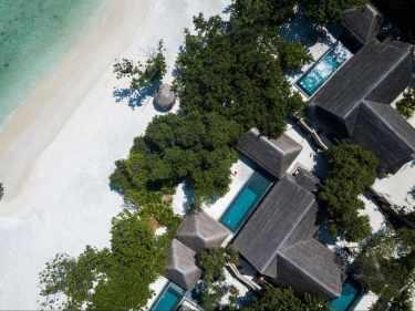 Luxury beach villas at Joali Maldives