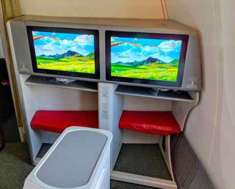 New Ethiopian Airlines Boeing 787 foot rest