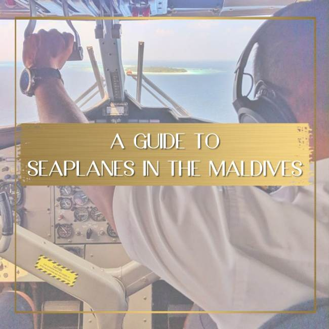 Seaplanes in the Maldives feature