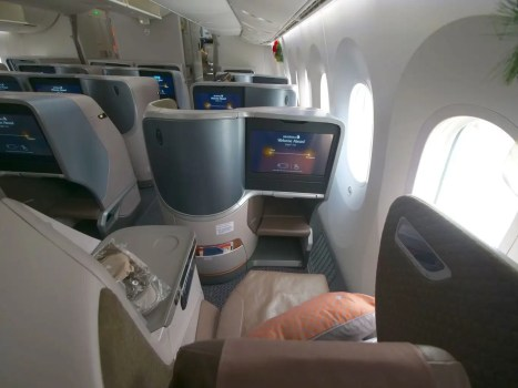 Full seat on the Singapore Airlines Boeing 787-10 Business Class