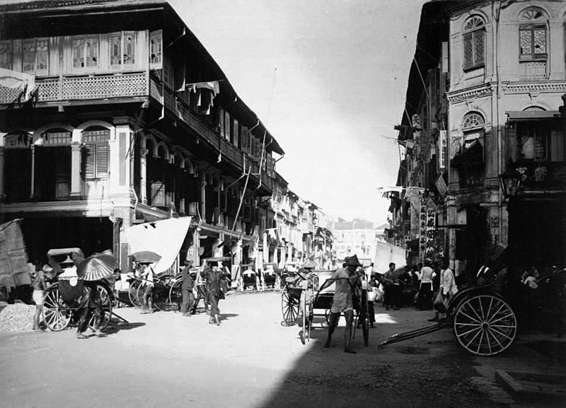 Chinese quarters of Singapore in 1914 (CC0)