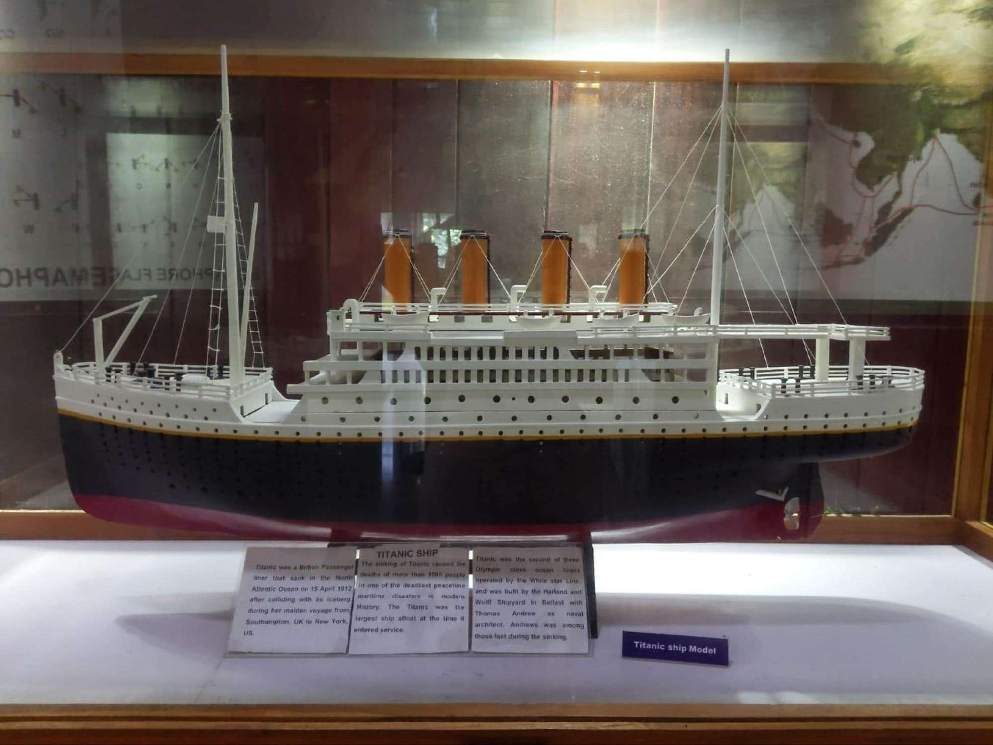Heritage Maritime Museum model of the Titanic