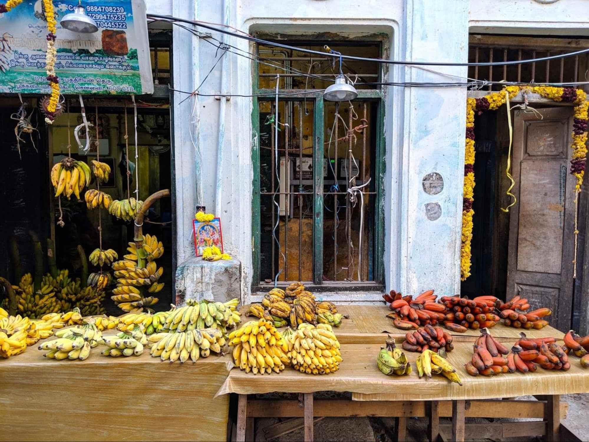 Marimuthu banana shop