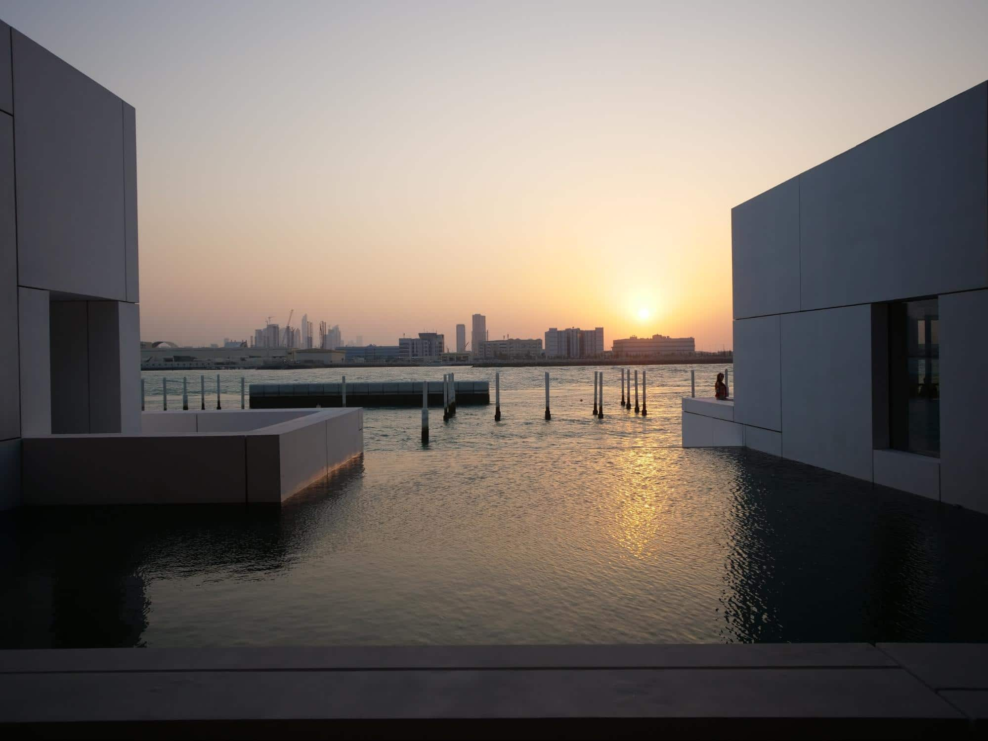 The Louvre Museum Abu Dhabi sunset