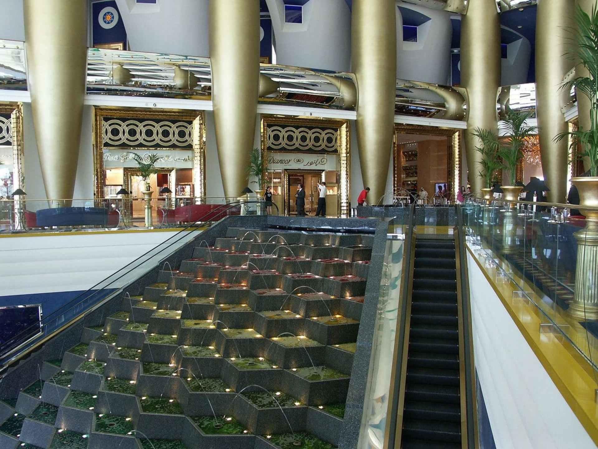 The lobby at the Burj Al Arab