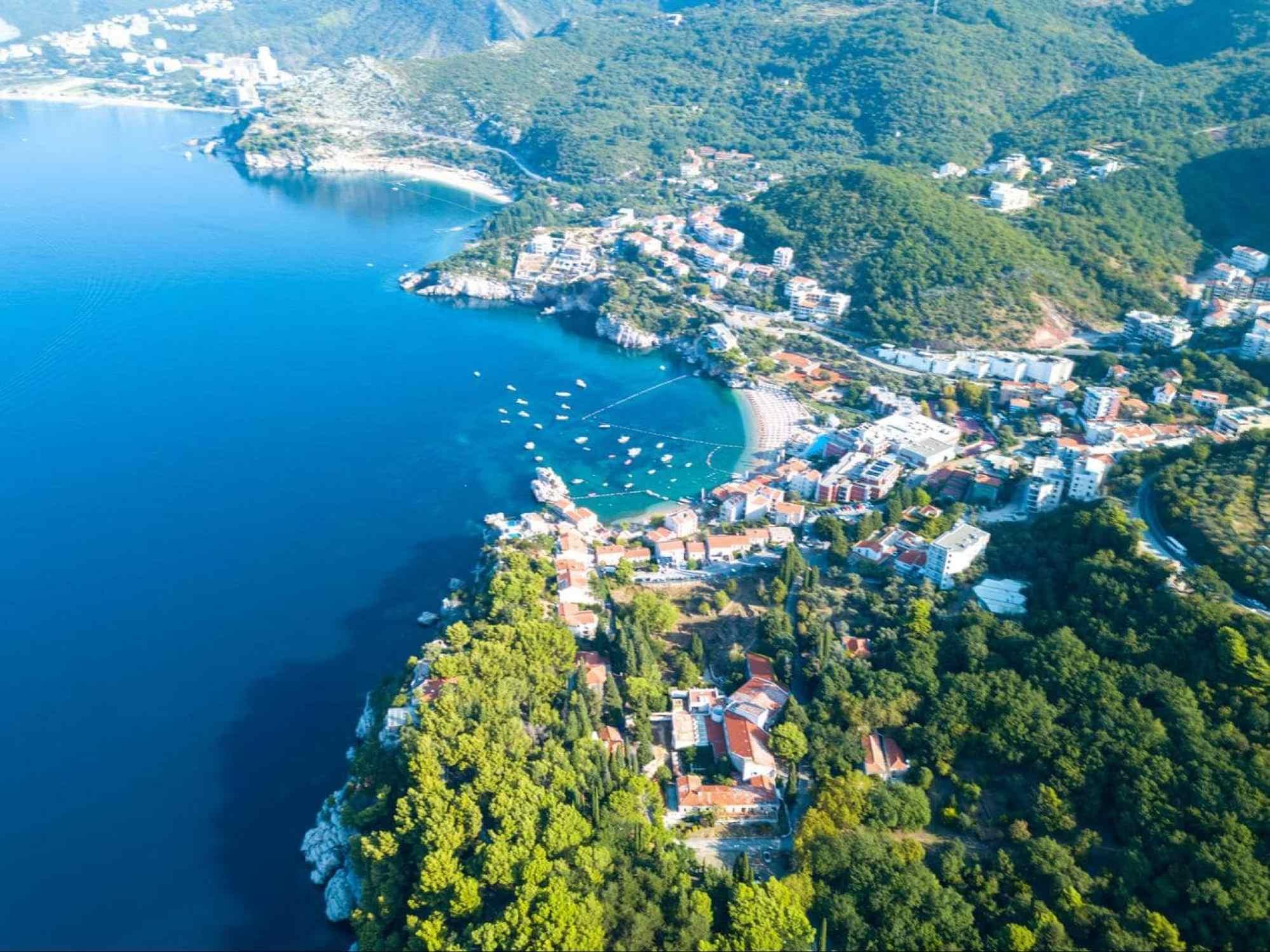 Adriatic coast of Montenegro
