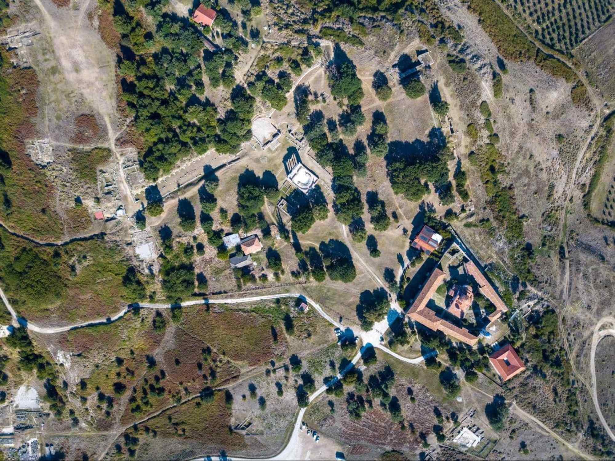 Apollonia Archeological Park drone shot