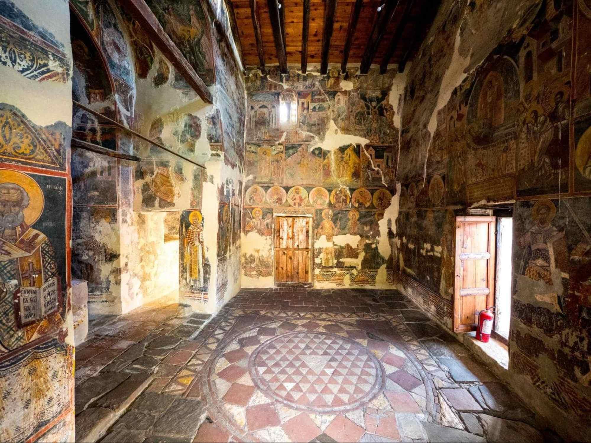 Inside the Church of St. Mary Blaherna in Berat