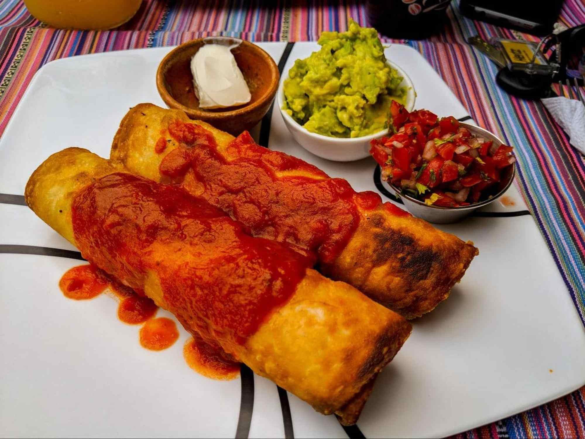 Flautas, rolled tortillas