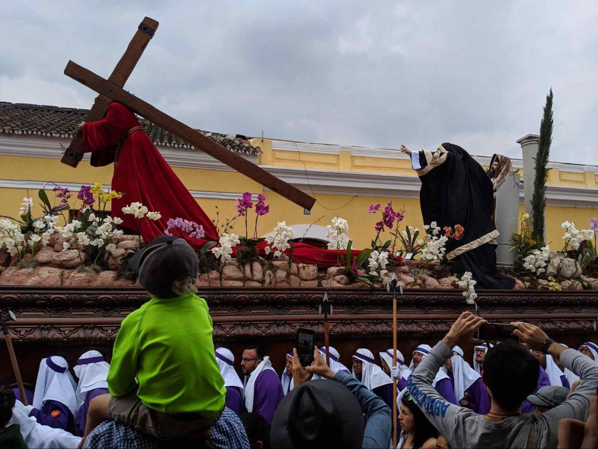 One of the Holy Week processions in Antigua Guatemala