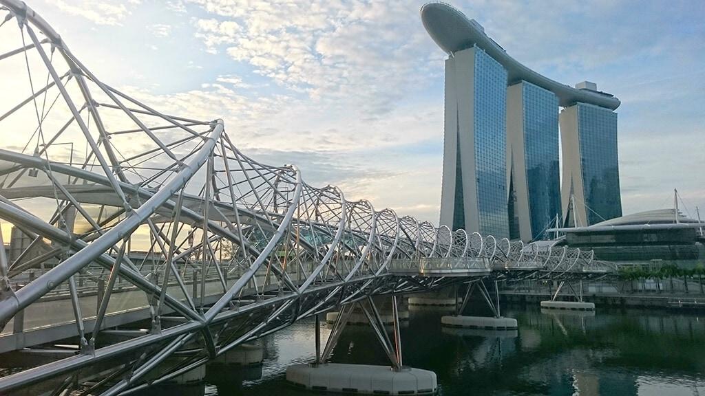 Marina Bay Sands and Helix Bridge
