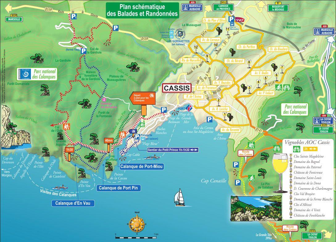 calanques map