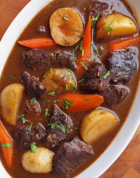 Beef stew with carrots and potato