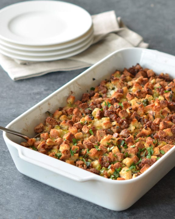 Easy Sausage   Herb Stuffing   Once Upon a Chef sausage stuffing
