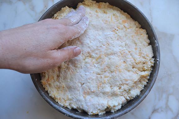 pressing-dough-into-pan