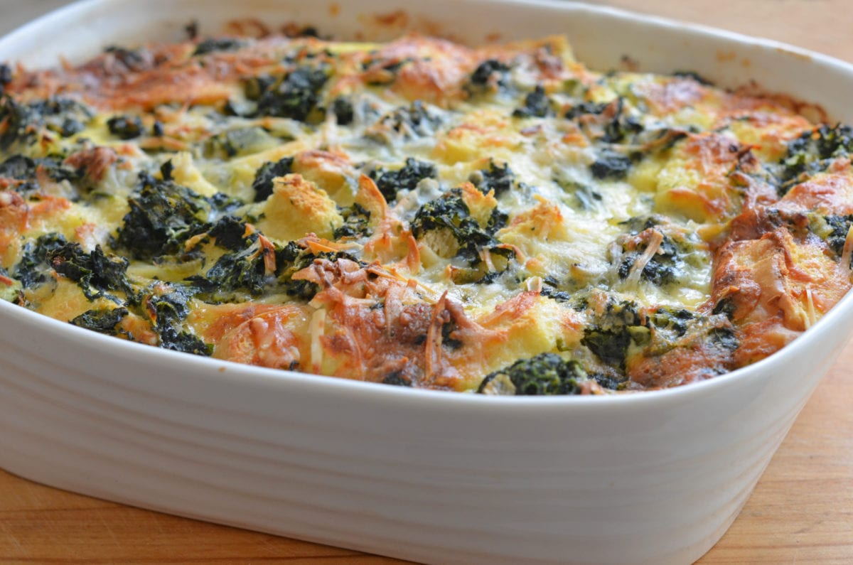 Spinach & Cheese Strata - Once Upon a Chef