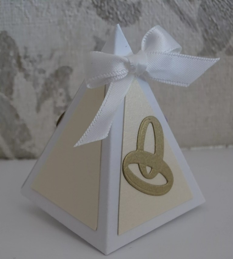 White And Cream Small Triangular Box