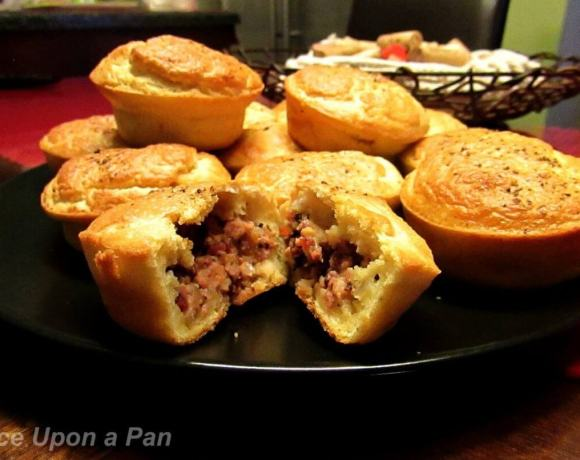 Sausage meat pies to start Christmas Eve dinner
