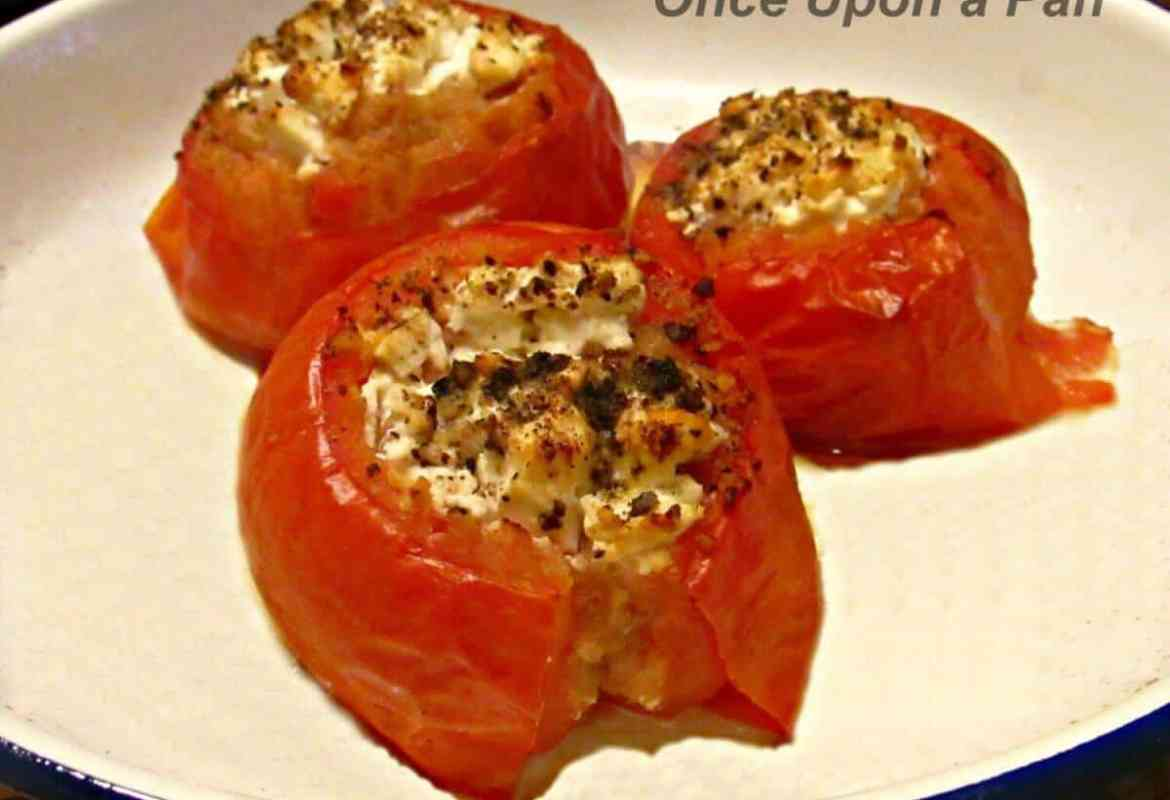 Ricotta stuffed tomatoes