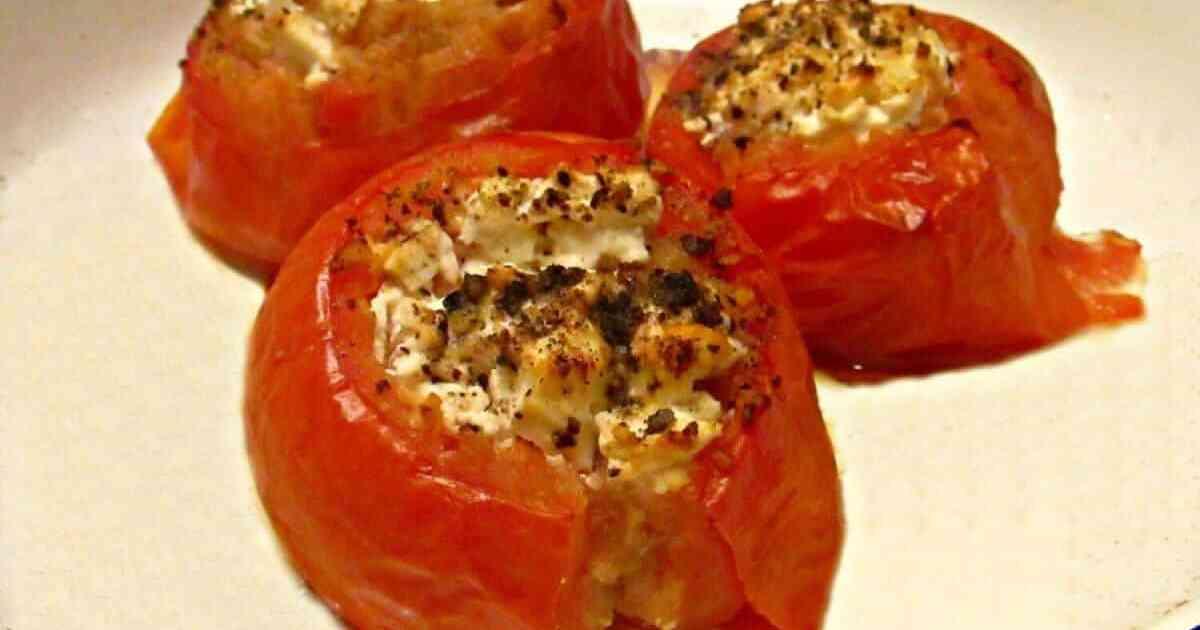 Ricotta stuffed tomatoes