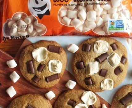 Pumpkin Spice S'more Cookies