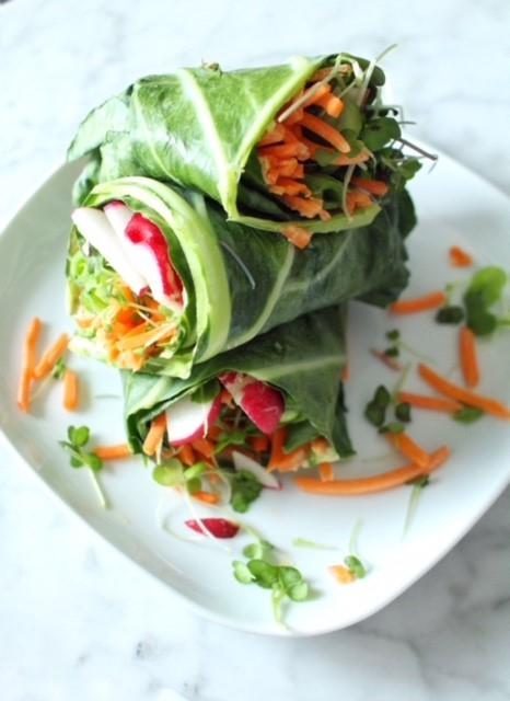 power green collard wraps