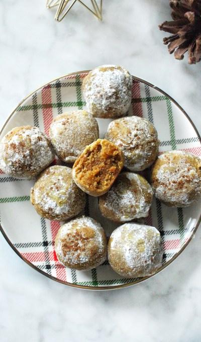 Gluten Free Pumpkin Snowball Cookies