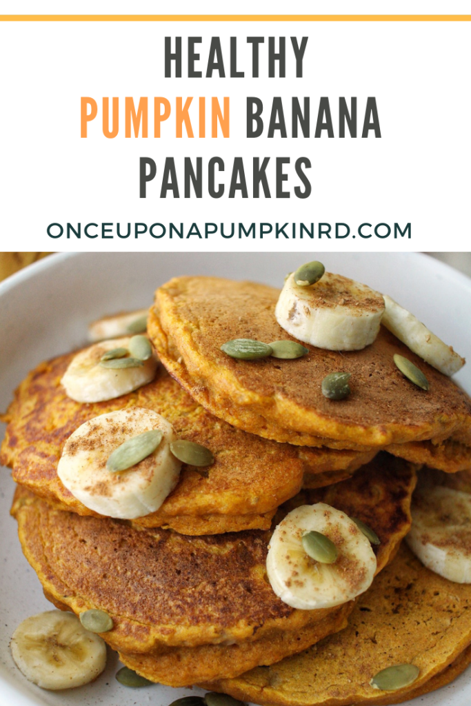 healthy pumpkin banana pancakes