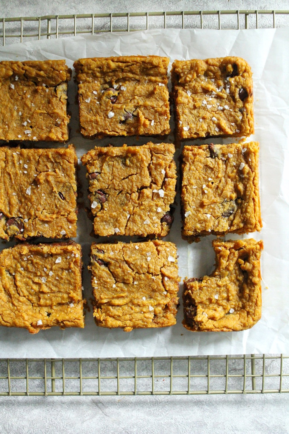 Pumpkin Chickpea Blondies