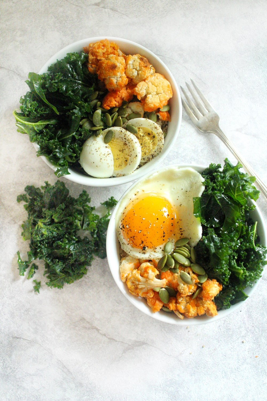 Kale Cauliflower Power Breakfast Bowl