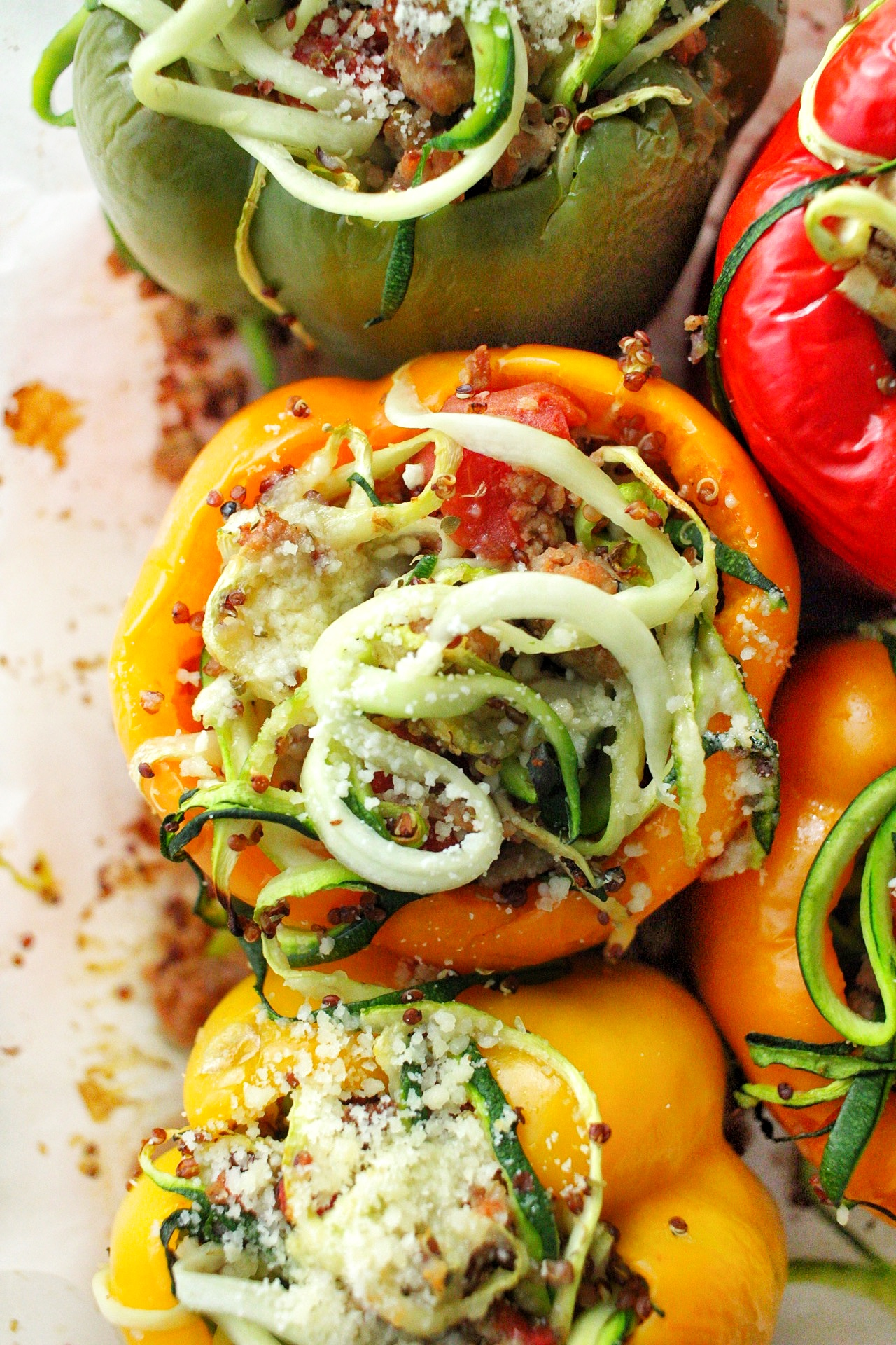 Healthy turkey stuffed peppers with quinoa