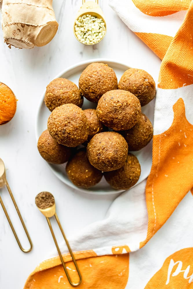 pumpkin superfood energy bites with adaptogens