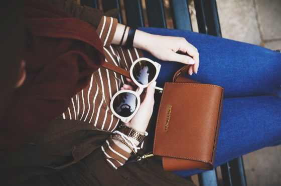 Brown stripes mini bag Michael Kors Loafers