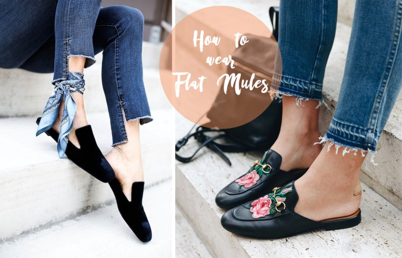 Flat mules sabot how to wear