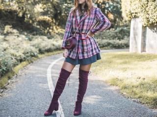 Pink tartan blazer | Un blazer a quadri rosa