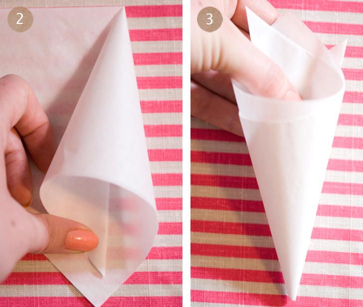 Wedding Paper Cones Once Wed