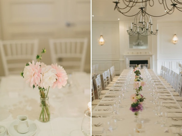 Great Gatsby Wedding Banquet Style Reception Dining Room