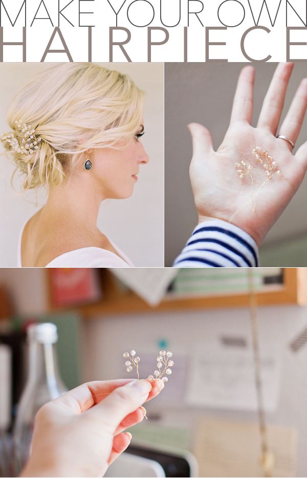 Wedding Hair Updos Hairpiece DIY Once Wed