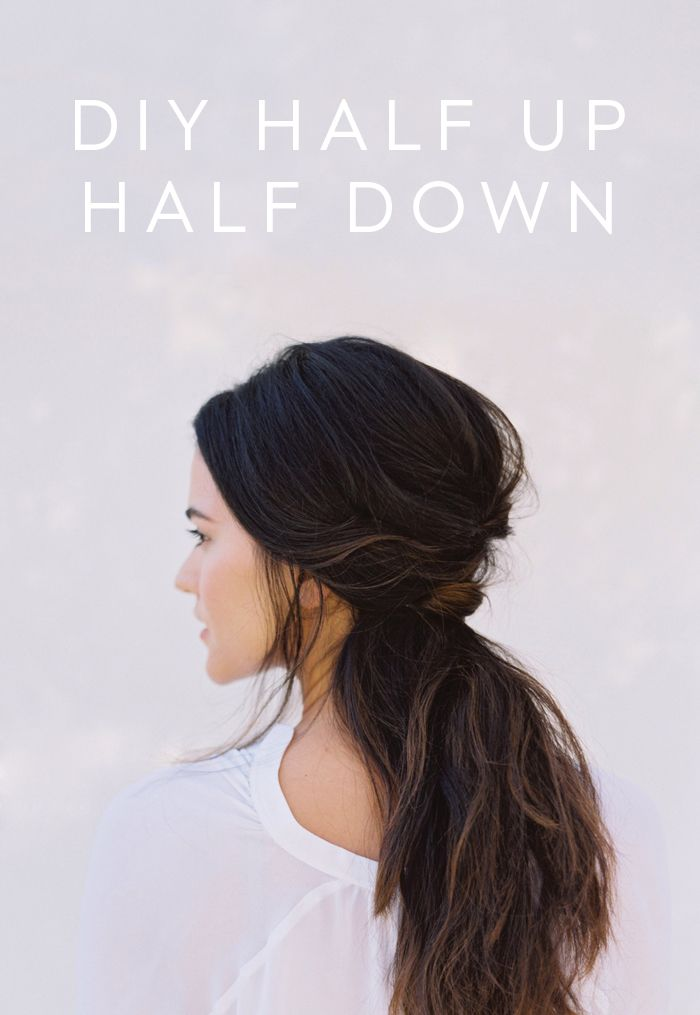 DIY Half Up Half Down Wedding Hair DIY Weddings