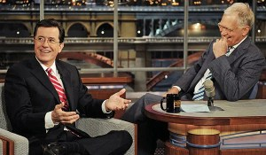 Stephen Colbert and David Letterman -- LA Times article