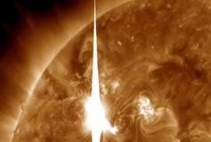 Imagem da tempestade solar que atingiu a Terra em 8 de março