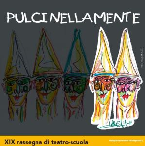 Il logo di PulciNellaMente firmato dall'artista Lello Esposito