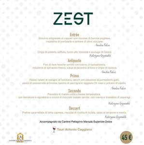 Menù Zest